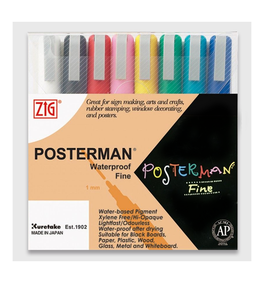 ZIG Posterman 8 Fine