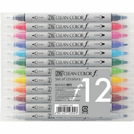 Zig Twin Tip Clean Color F- Set 12