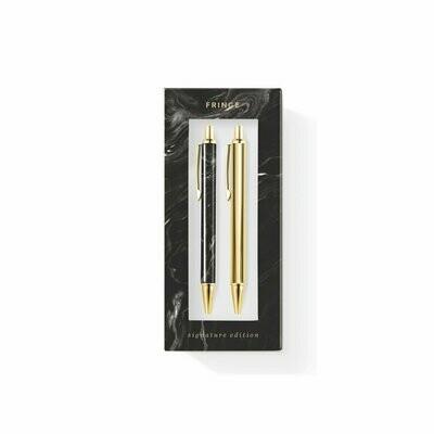 lapicero+portaminas MARBLE BLACK