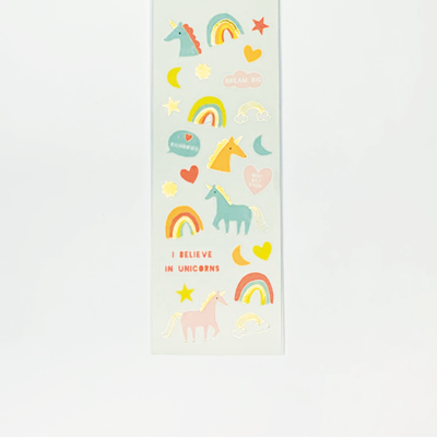 Mini Stickers Unicornios