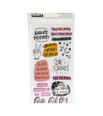 Puffy Sticker Girl