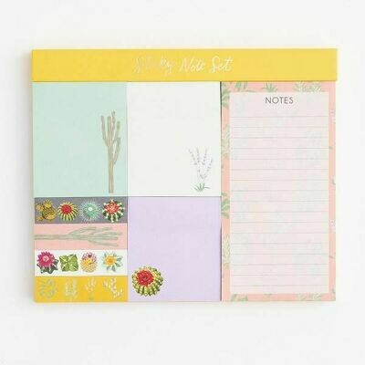 Desert Flora Sticky Note Set