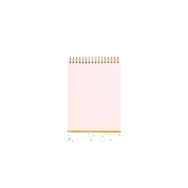 Splatter Pink Notebook