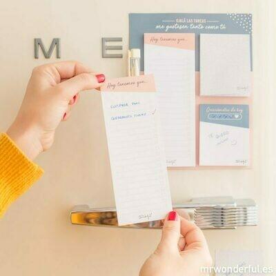 Block magnético de notas adhesivas - Ojalá las tareas me gustasen tanto como tú