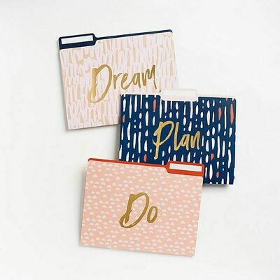 File Folders Dream, Plan, Do