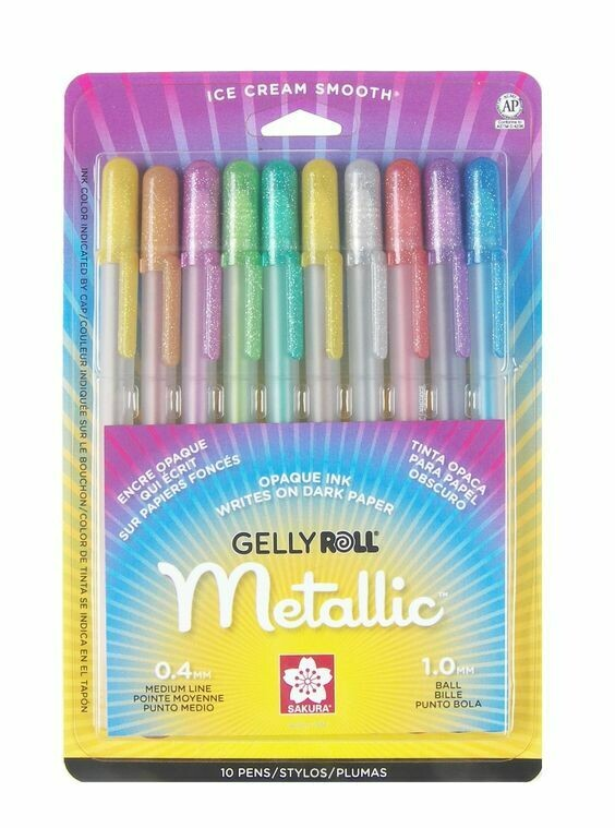 Gelly Roll Metálicos (10)