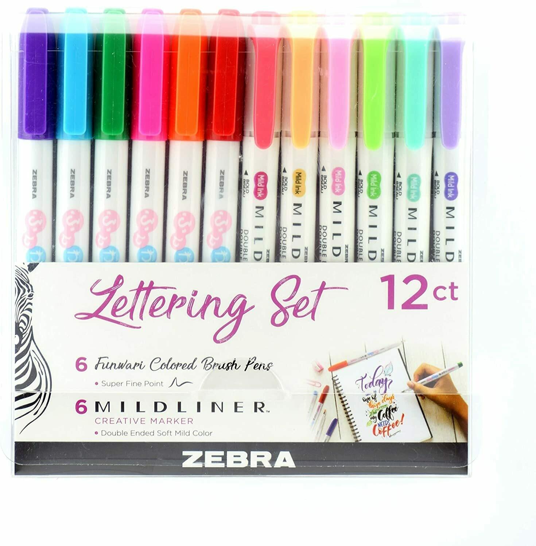 Zebra lettering Set