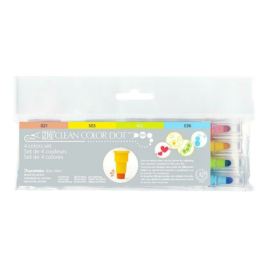 ZIG Clean color Dot- Set 4