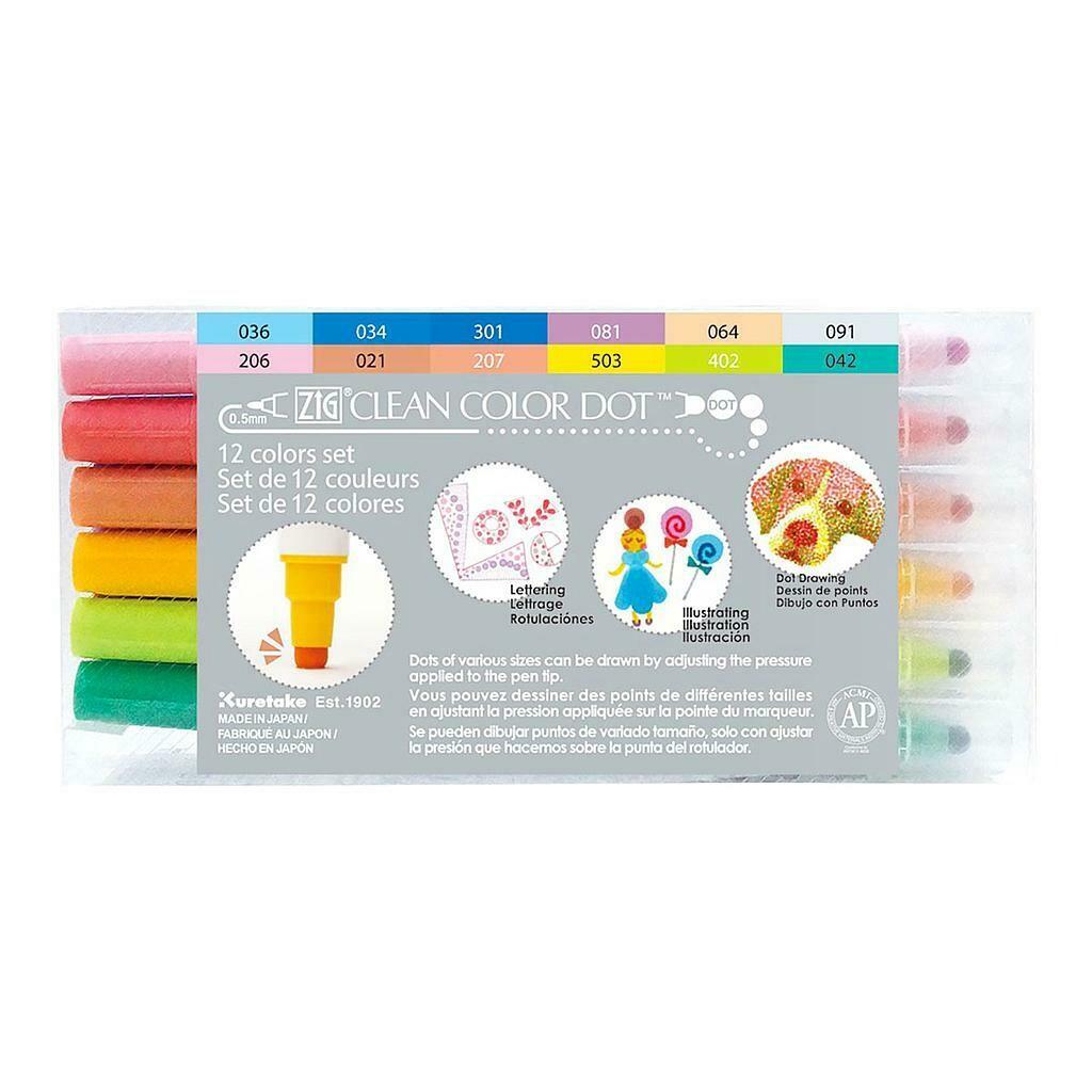 ZIG Clean Color Dot- Set 12