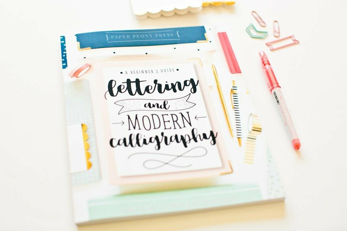 Libro de lettering y Modern Calligraphy