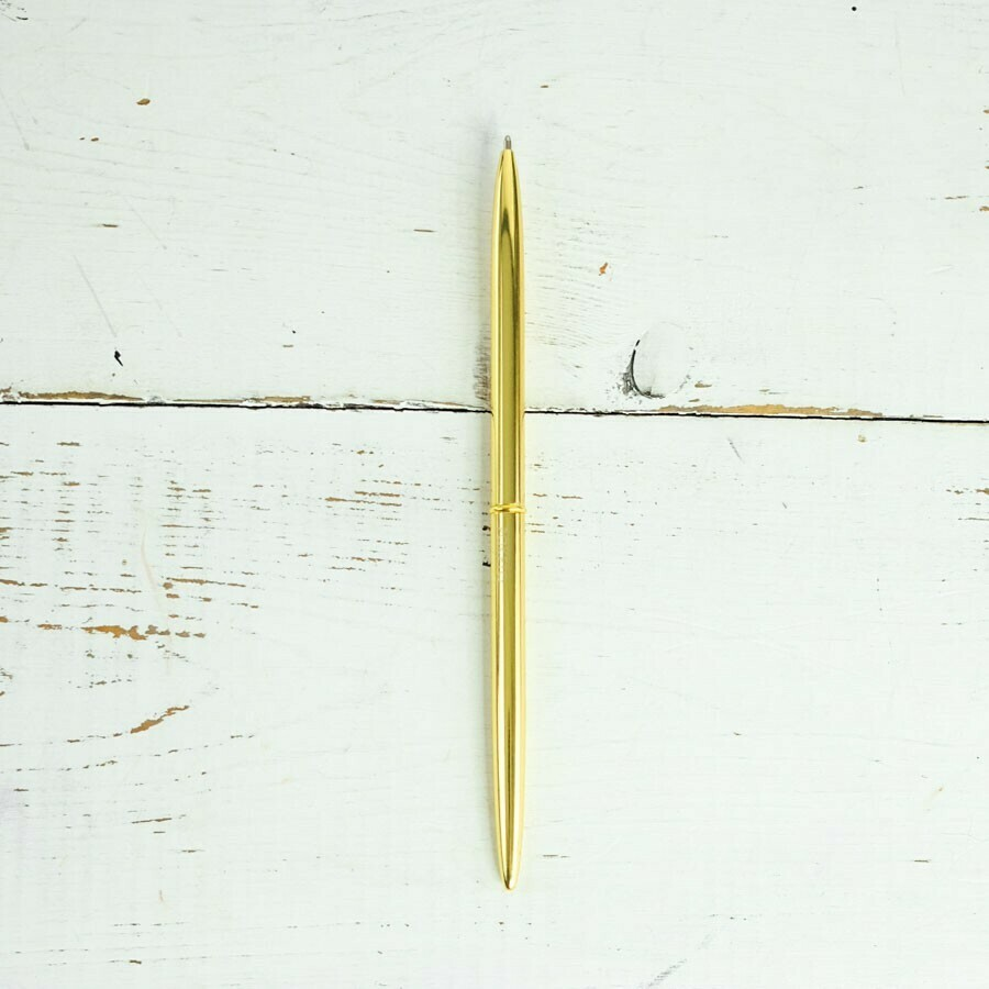 Slim gold pen