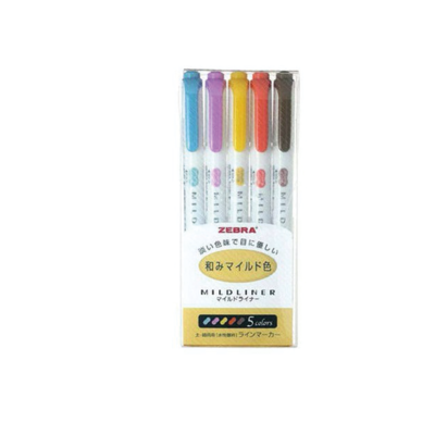 Zebra Mildliner- Yellow pack 5