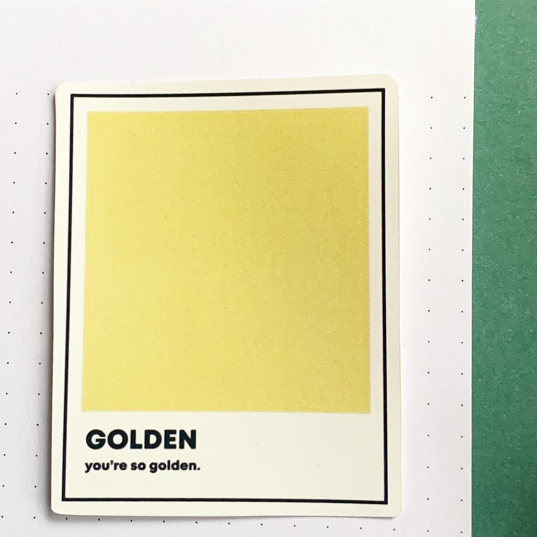 Stickers de Vinil- Golden