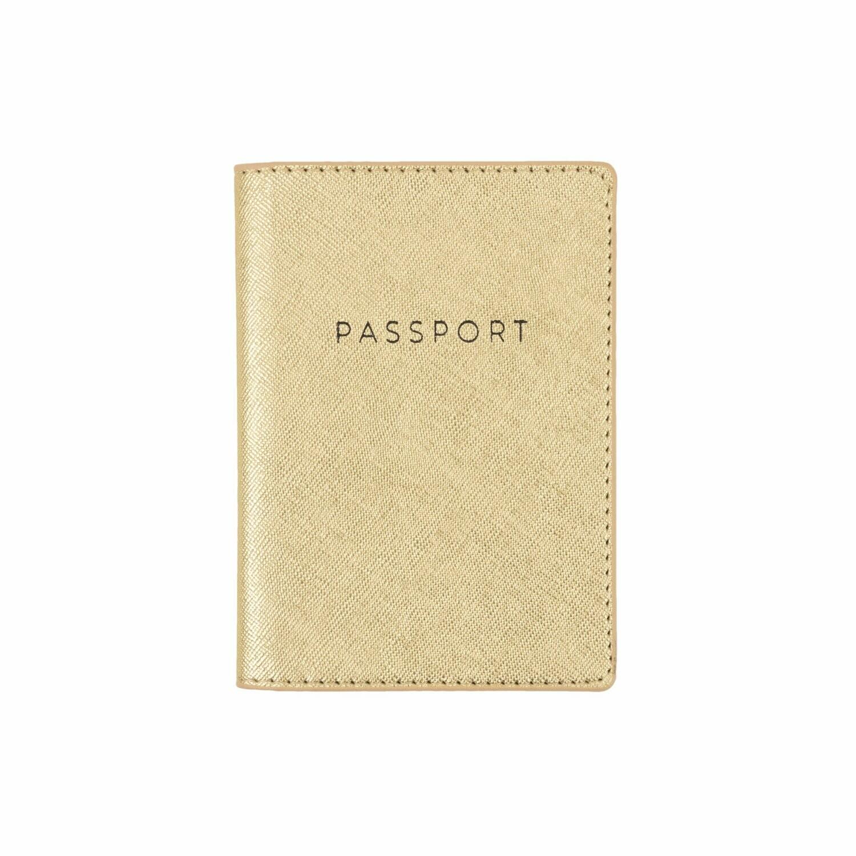 Gold- Porta pasaporte