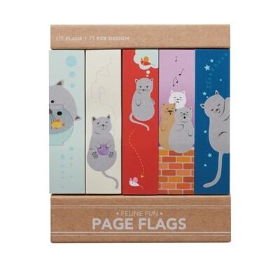 FELINE FUN PAGE FLAGS