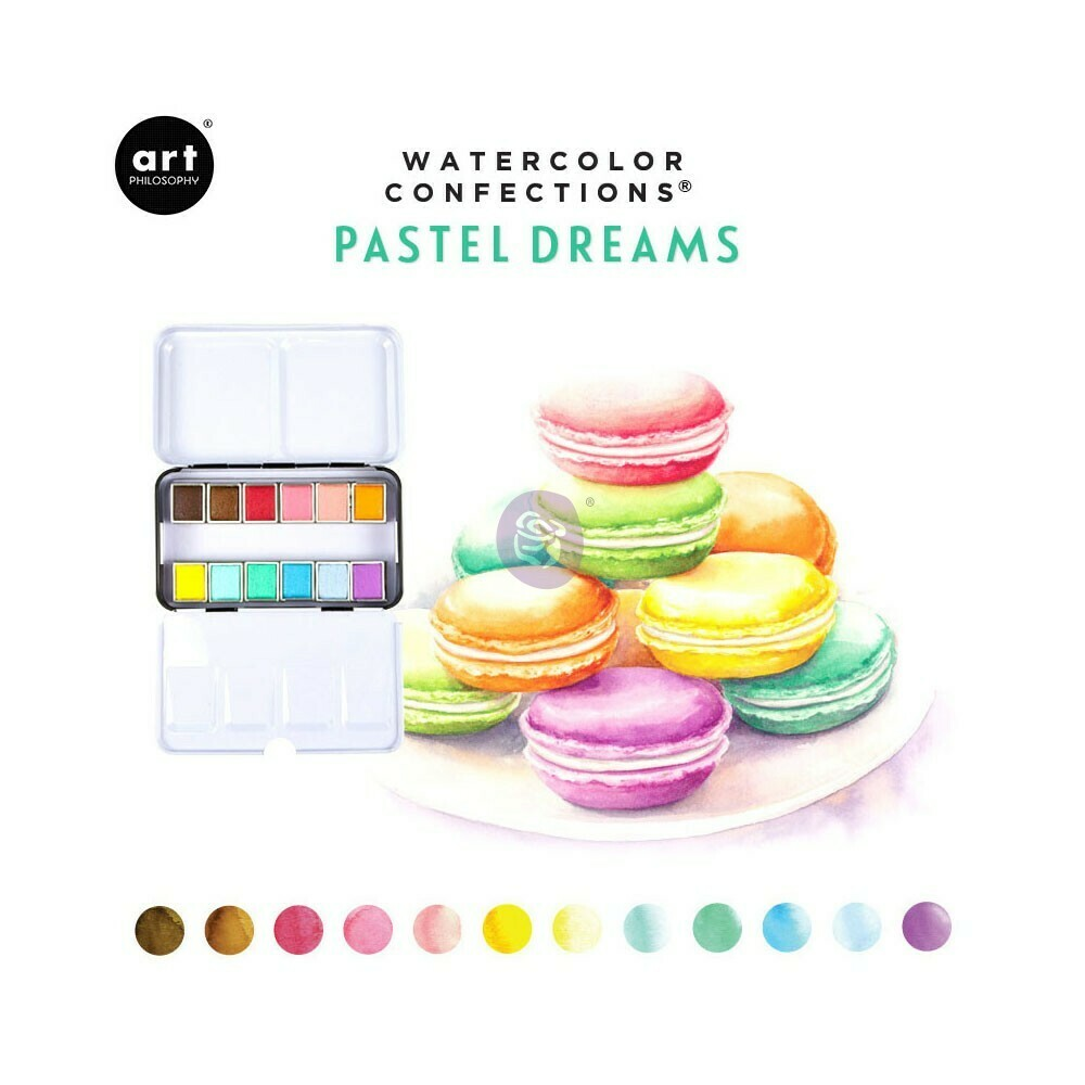 Watercolor Confections Pastel Dreams
