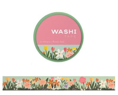FLOWER BED WASHI TAPE