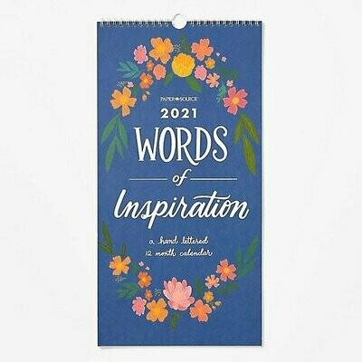 Calendario Words of Inspiration