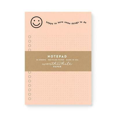 Happy notepad