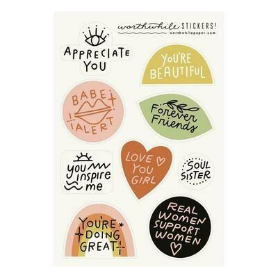 Friendship Sticker Sheets