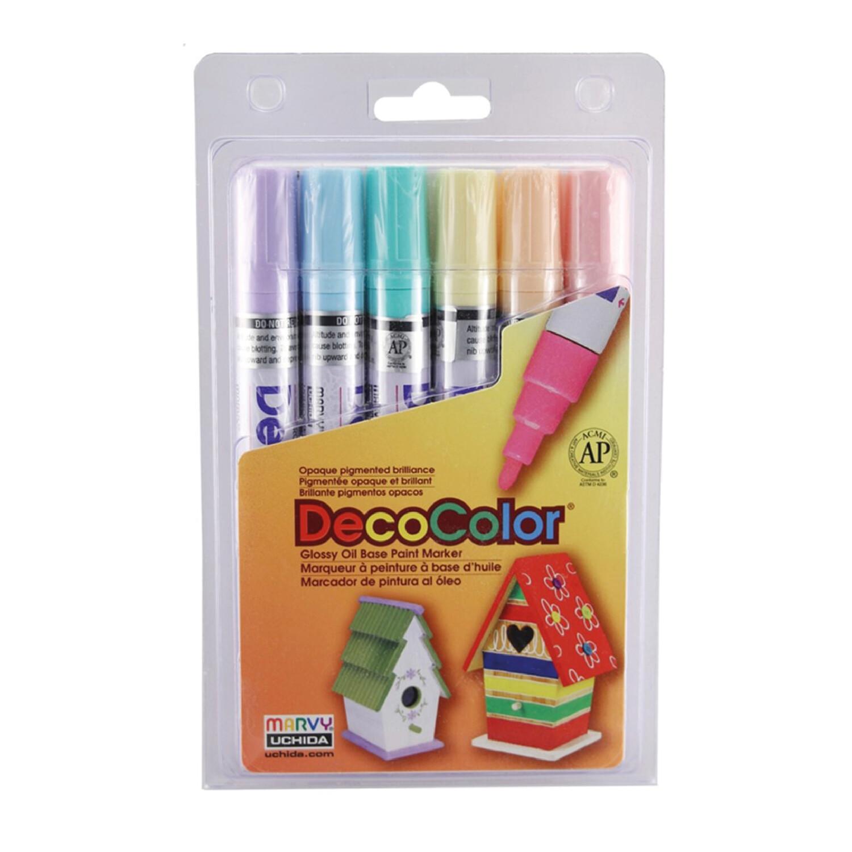 DecoColor Pastel Paint- Board tip Set6