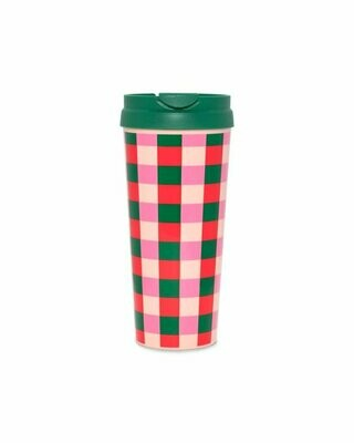 Hot Stuff Thermal Mug- Buffalo Plaid