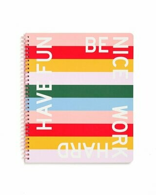 Cuaderno Grande Be Nice Have Fun Work Hard
