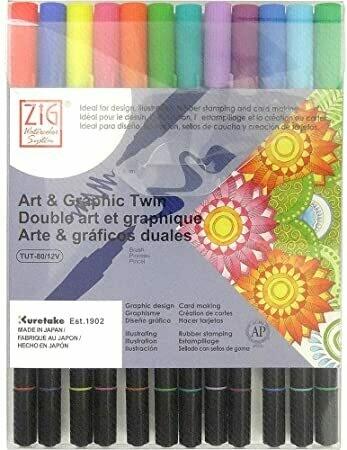 Zig Art & Graphic Bright- set 12