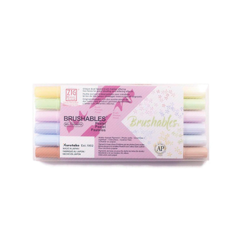 Zig Brushables Pastel- Set 6