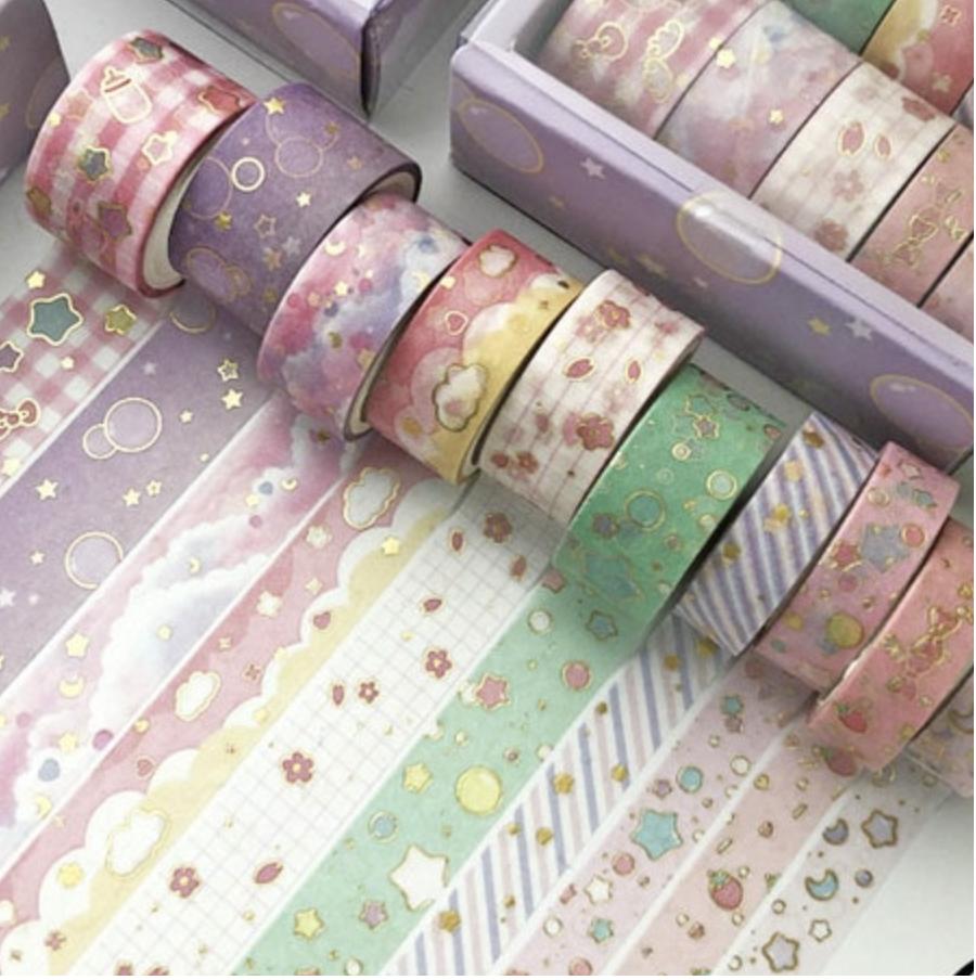 Set Washi Tapes- Pastel