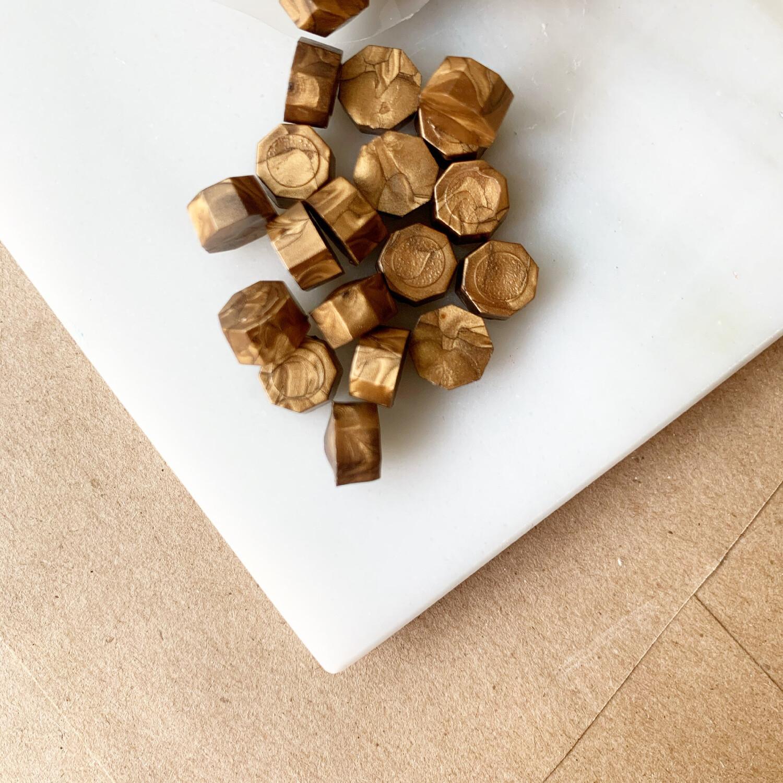 Pastillas de cera -Oro Viejo