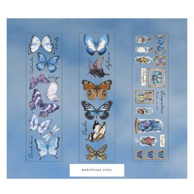 Mariposas- Stickers Transparentes