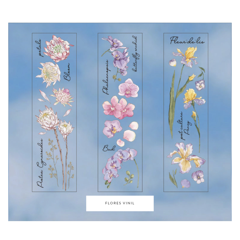 Flores - Stickers Transparentes