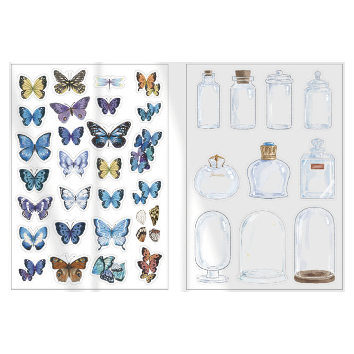 Mariposas/Domo - Stickers Transparentes