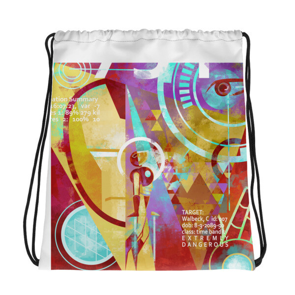 Target Acquired, drawstring bag