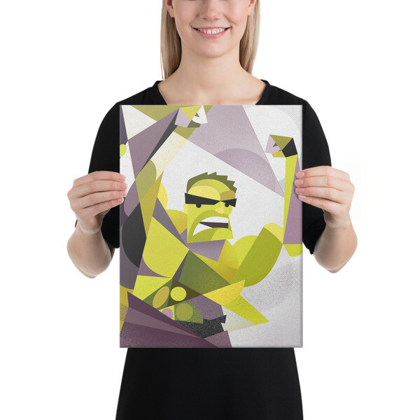 Green and Angry, canvas print