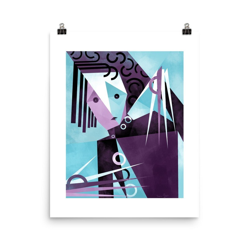 Mr. S, Luster finish art print with border