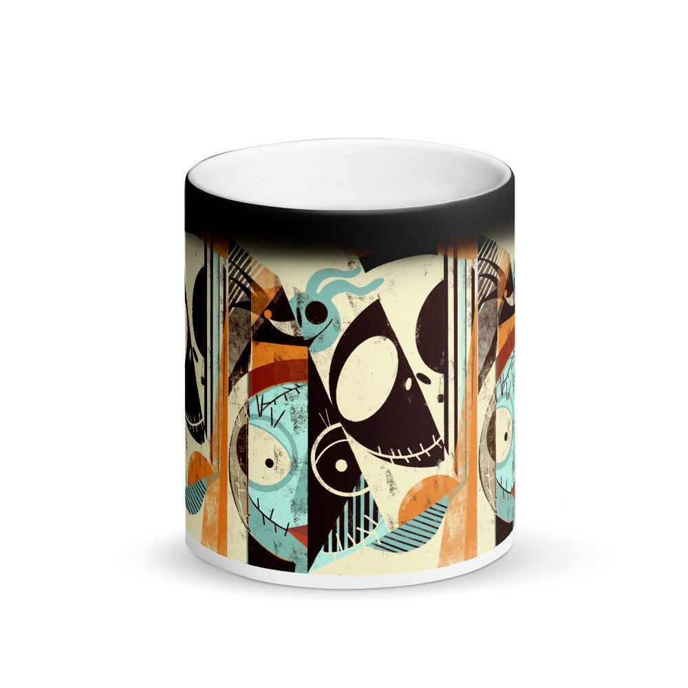 Jack and Gang, Magic coffee. Print appears when a beverage is poured in.