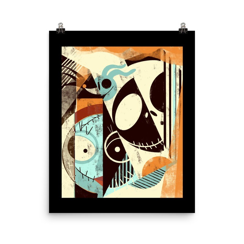 Jack and Gang, Luster paper print with black border