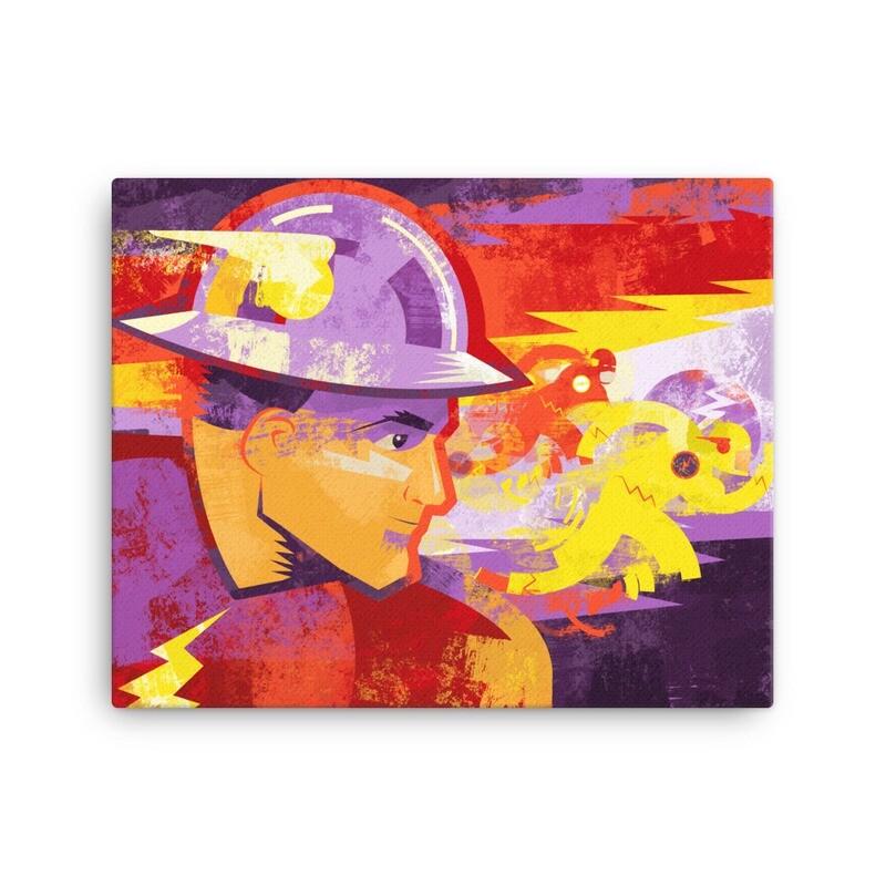 Three Speed, Canvas Art Print