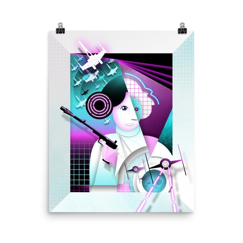 Leia, fineart print on Luster papaer