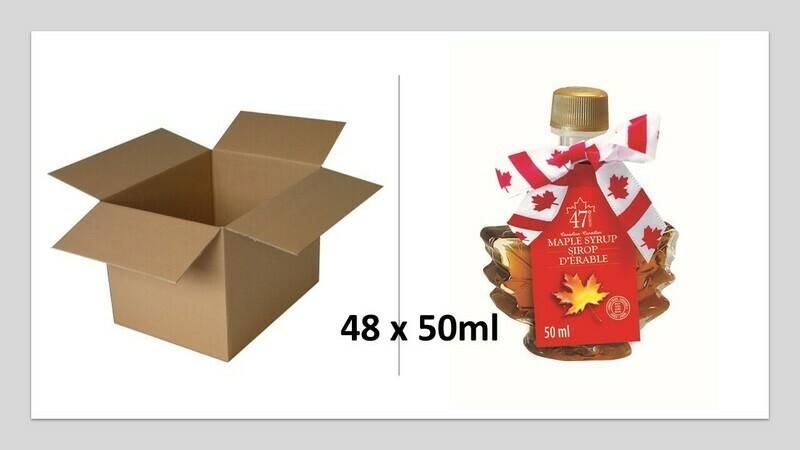 48x50ml Maple Leaf Glass