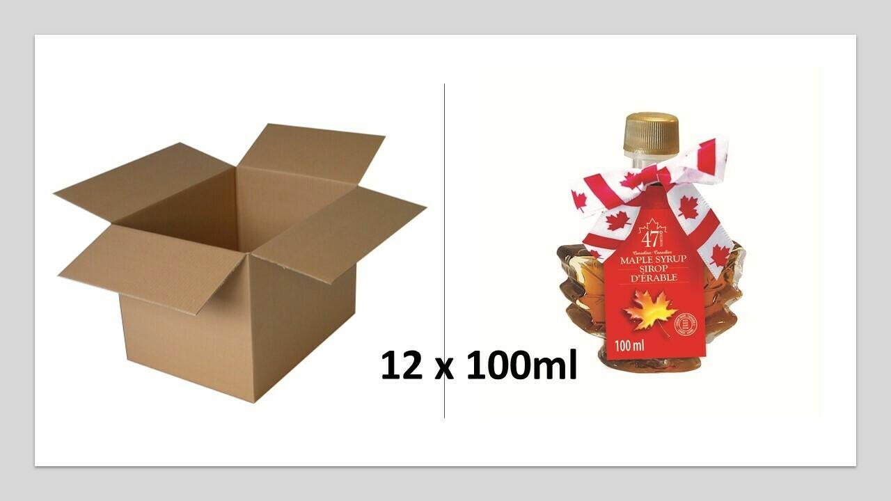 12x100ml Maple Leaf Glass