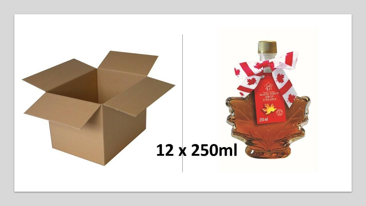 12x250ml Maple Leaf Glass