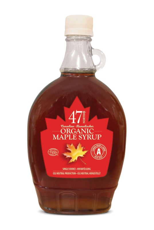 500ml Organic Maple Syrup Traditional Glass Bottle
