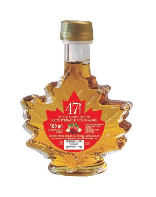 100ml Apple Maple Fruit Blend Maple Leaf Glass