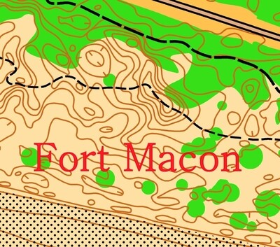 Ft. Macon State Park, Orienteering event.