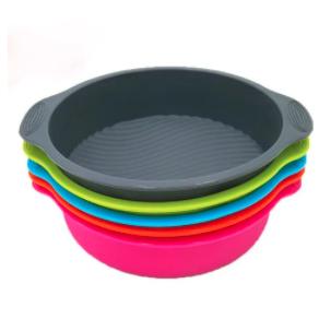 9 inch DlY Round Cake Pan Shape 3D Silicone Cake Mold - 2 PCS SET