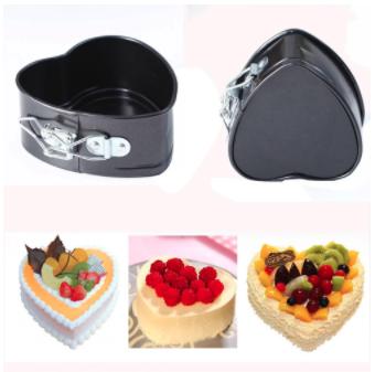 Non-Stick Love Heart Shape Cake Mold 3 pcs set