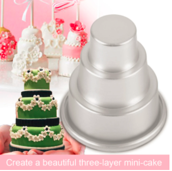 Mini 3-Tier Cupcake Pudding Cake Mold 5 pcs set